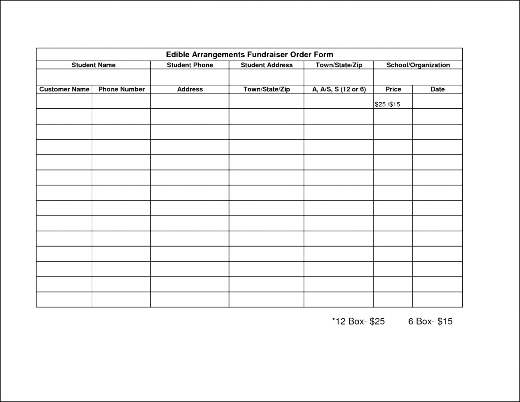 25 48 free order form template
