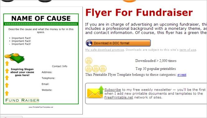 5 free fundraiser flyer templates