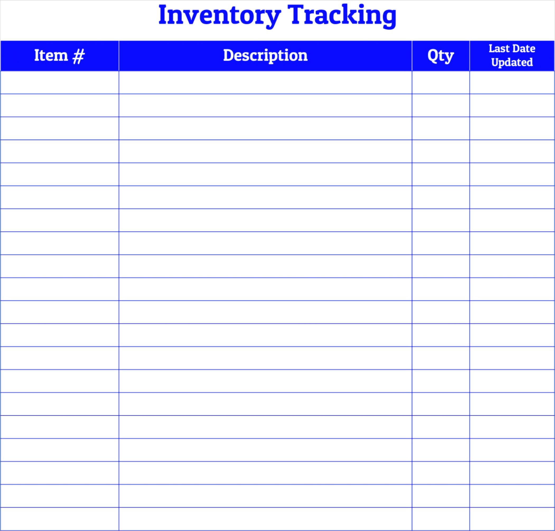 post free printable inventory log sheet