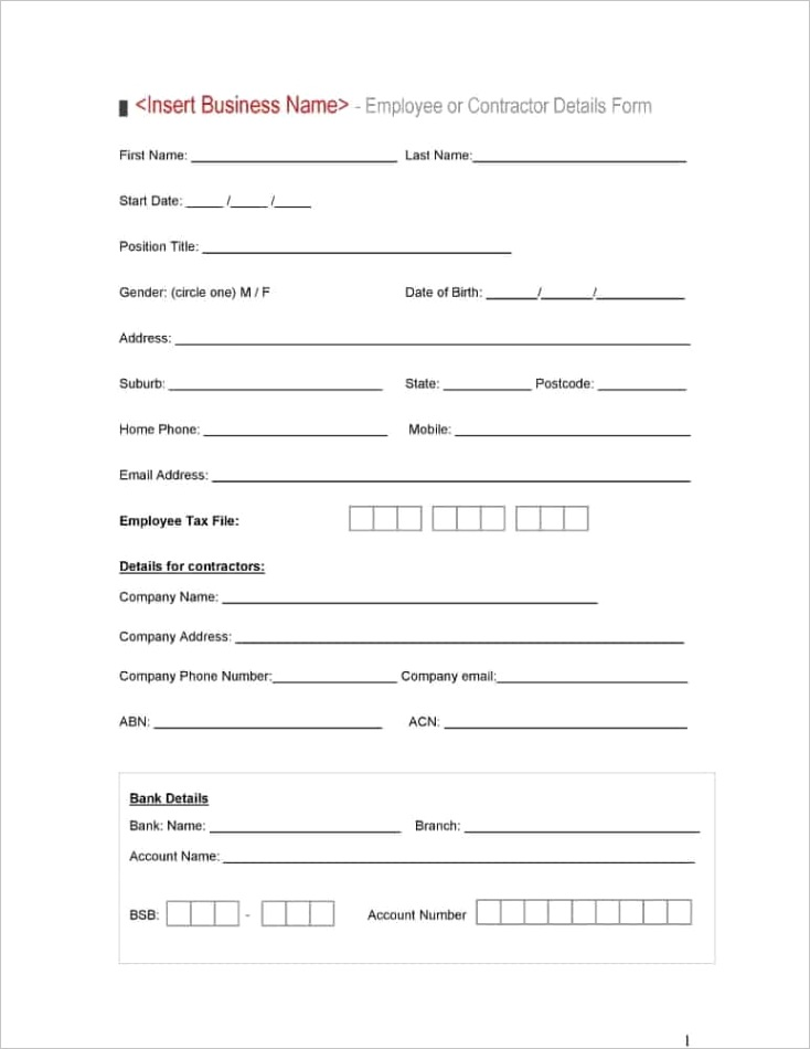 5 job application formsml