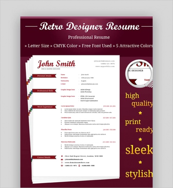 attractive eye catching resume cv templates cms