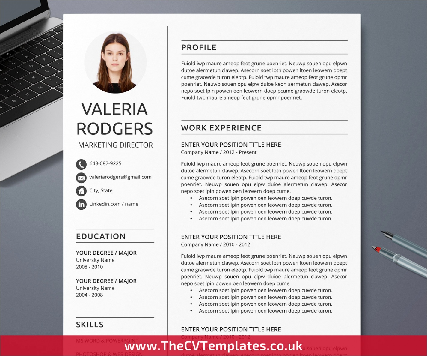 minimalist cv template for ms word cover letter simple resume professional resume modern resume creative resume clean resume template for job application instant cvuk 30