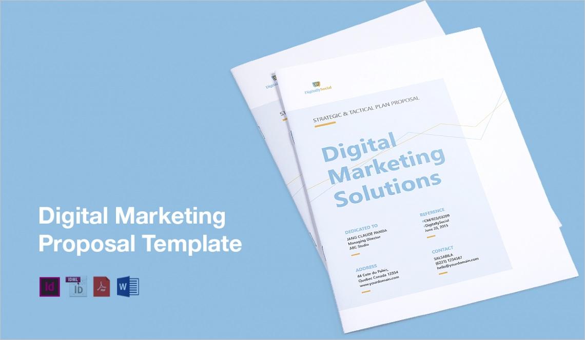 Clean Digital Marketing Proposal Template