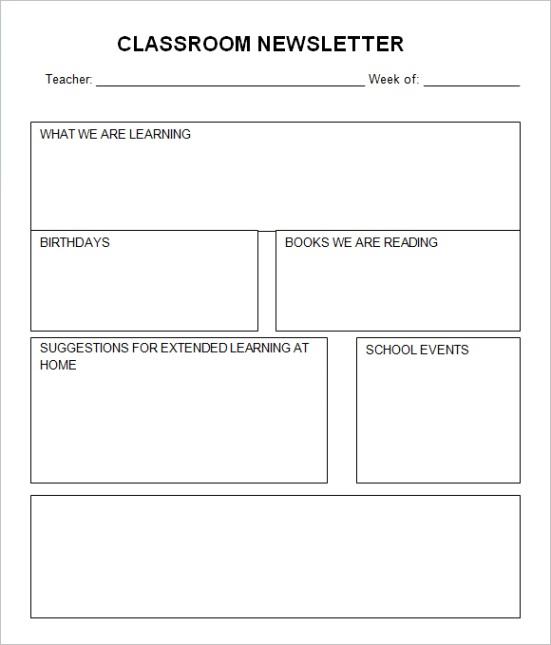 classroom newsletter templateml
