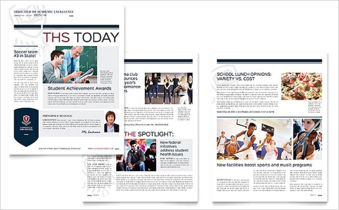 school newsletters templates design ideas
