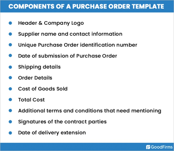purchase order template how use it