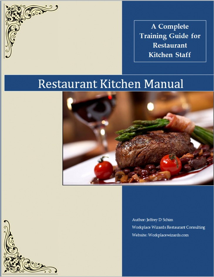 restaurant training manual template