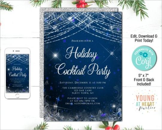 holiday cocktail party invitation elegant christmas